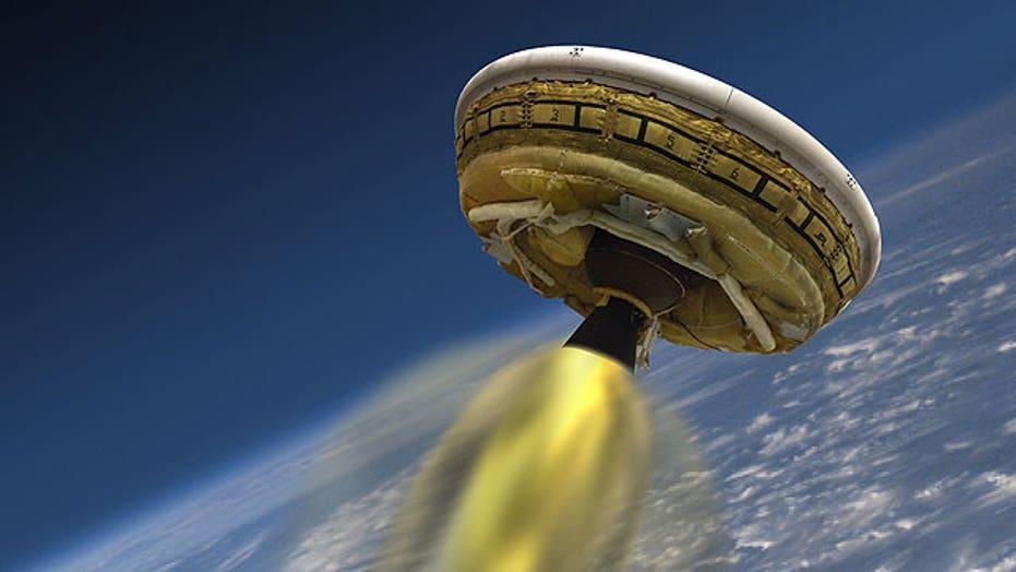NASA set for 'flying saucer' test flight