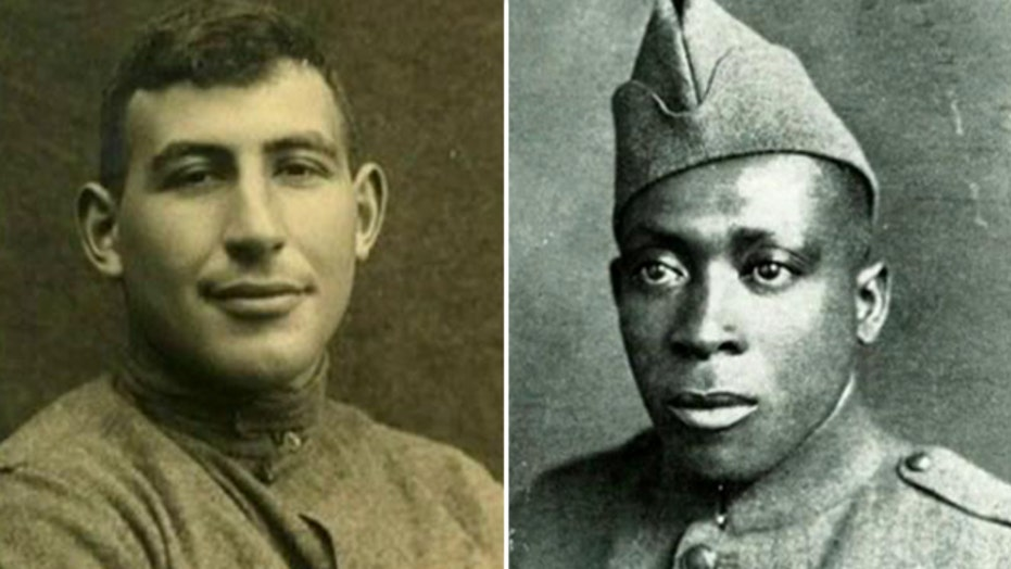 Obama posthumously presents Medal of Honor to two WWI vets