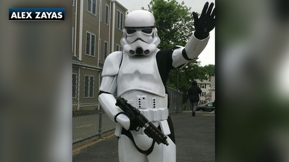 'Stormtrooper' arrested after causing scare at school