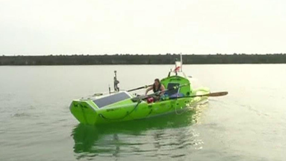 Woman sets out to become first to row across Pacific Ocean