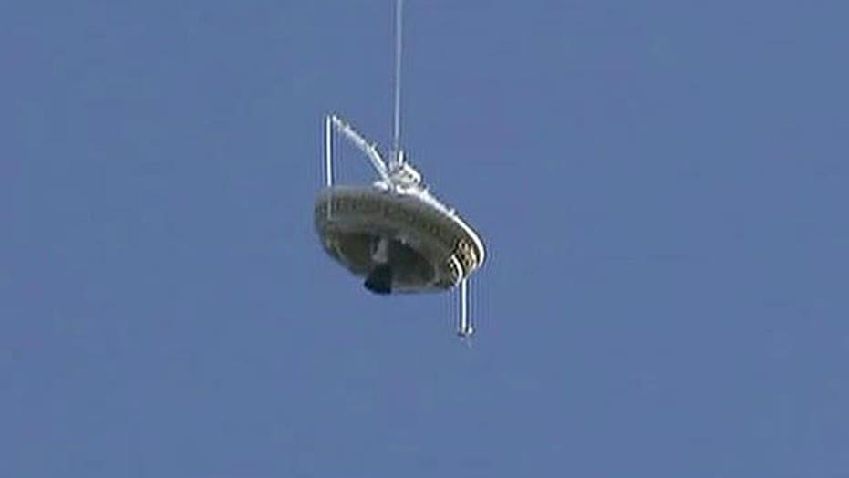 NASA launches 'flying saucer' from Hawaii for test flight