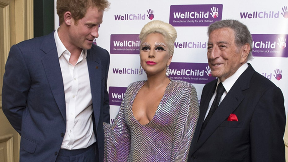 Prince Harry nabbed eyeing Lady Gaga's cleavage