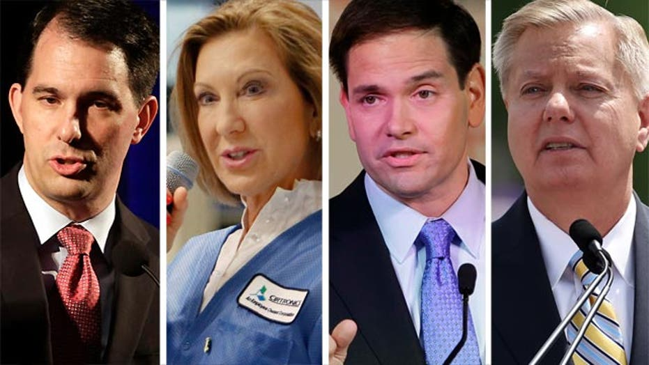 GOP hopefuls in a competition for campaign cash at E2 Summit