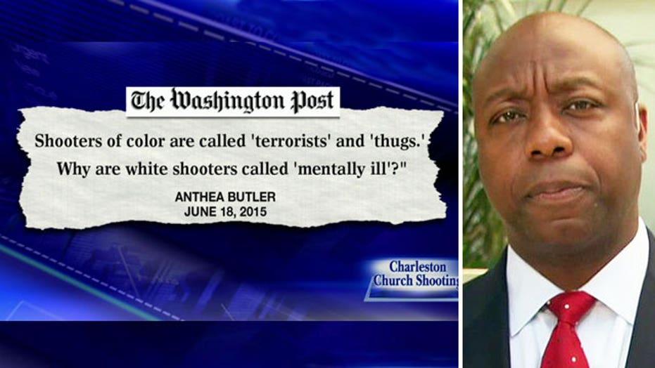 Sen. Tim Scott on the media's labeling of mass murderers