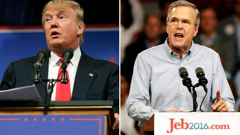 The Donald trumps Jeb coverage