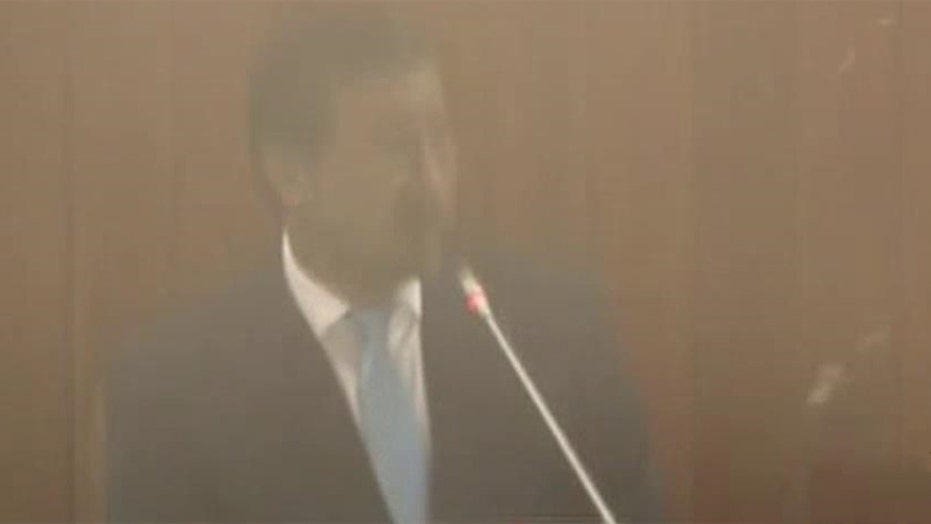 Taliban attack on Afghan parliament caught on tape