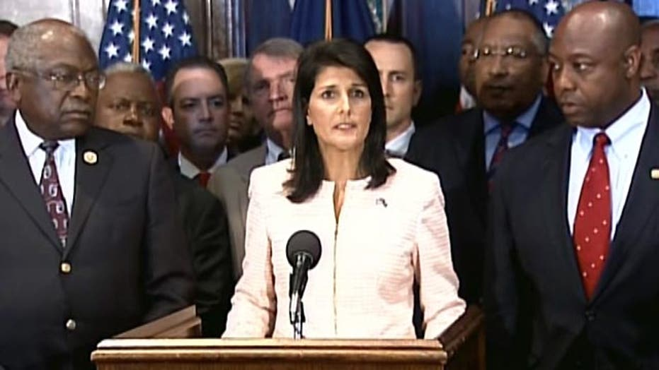 Haley: Time to move Confederate flag from Statehouse grounds