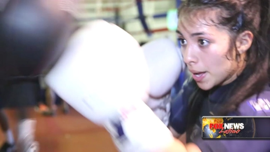 Mexican female boxer hopes for a bright future