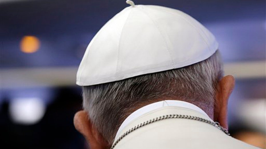 Pope Francis arrives in Ecuador