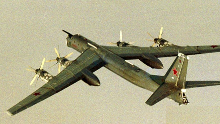 US Air Force scrambles jets to intercept Russian bombers