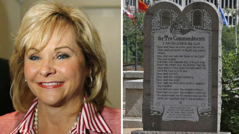 Oklahoma gov. to keep Ten Commandments monument at Capitol