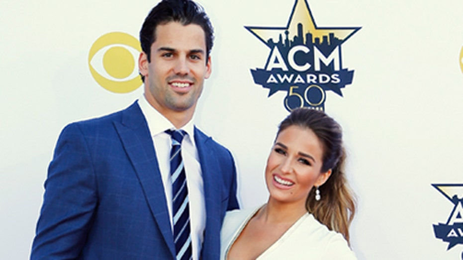 Jessie James Decker can't keep hands off hubby