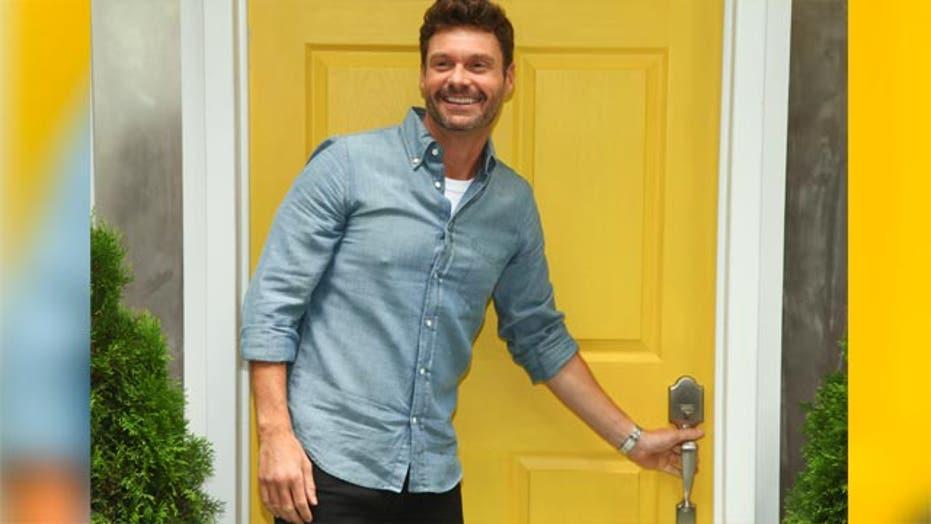 Ryan Seacrest goes door-to-door