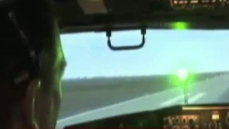 Pilots nearly blinded by lasers