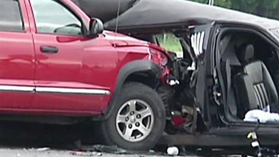 Four dead after truck hits limo carrying wedding party