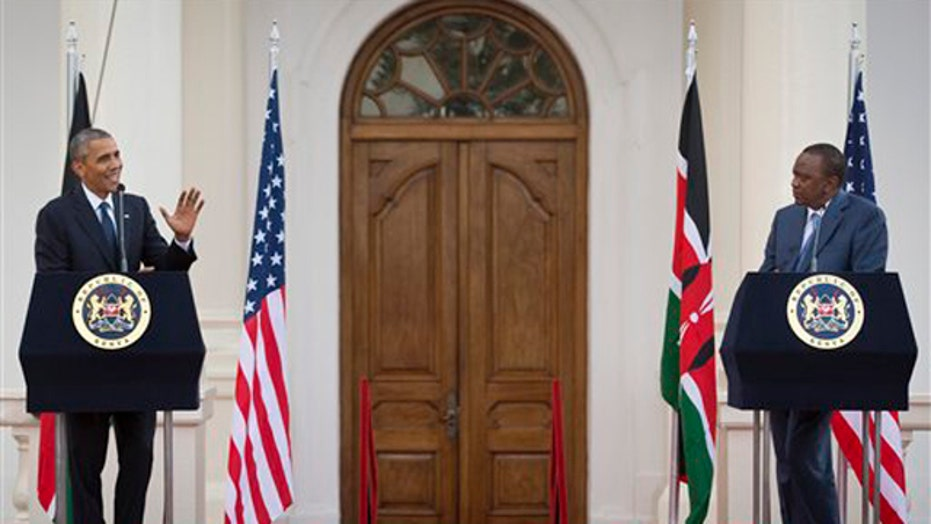 Obama holds joint news conference with Kenyan President