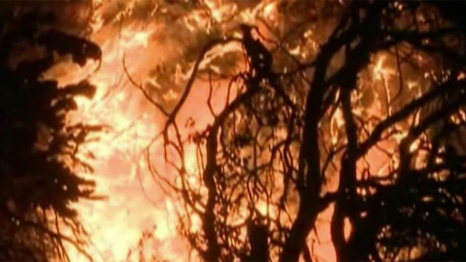 Crews battle massive wildfire in northern California