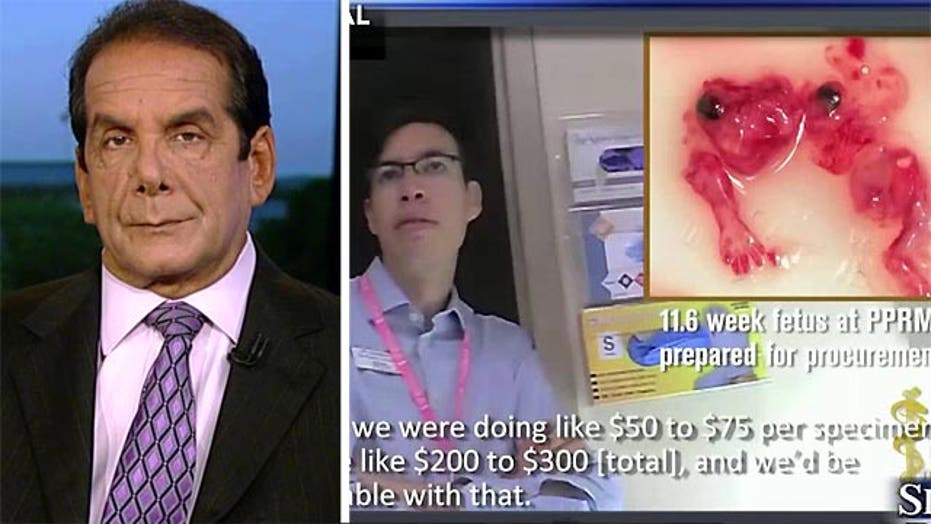 Krauthammer on Planned Parenthood videos