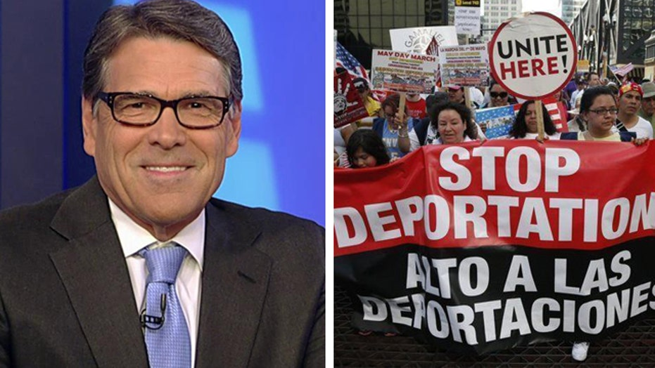 Perry on immigration reform: Securing the border is priority