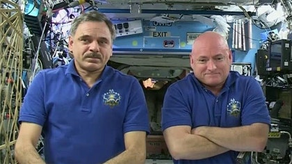 Checking in with Scott Kelly and Mikhail Kornienko aboard the ISS