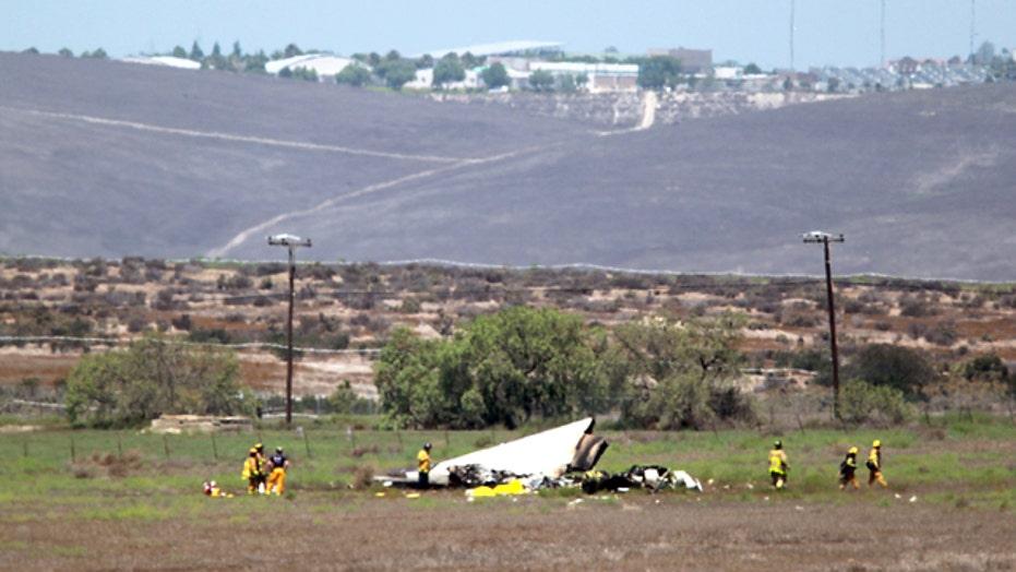 Five killed when two small planes collide in California