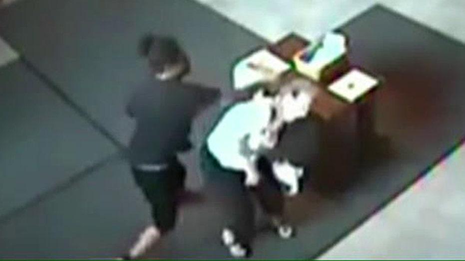Heartless thugs attack elderly woman inside church