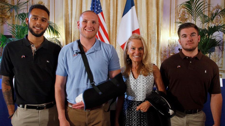 American heroes describe taking down gunman on Paris train