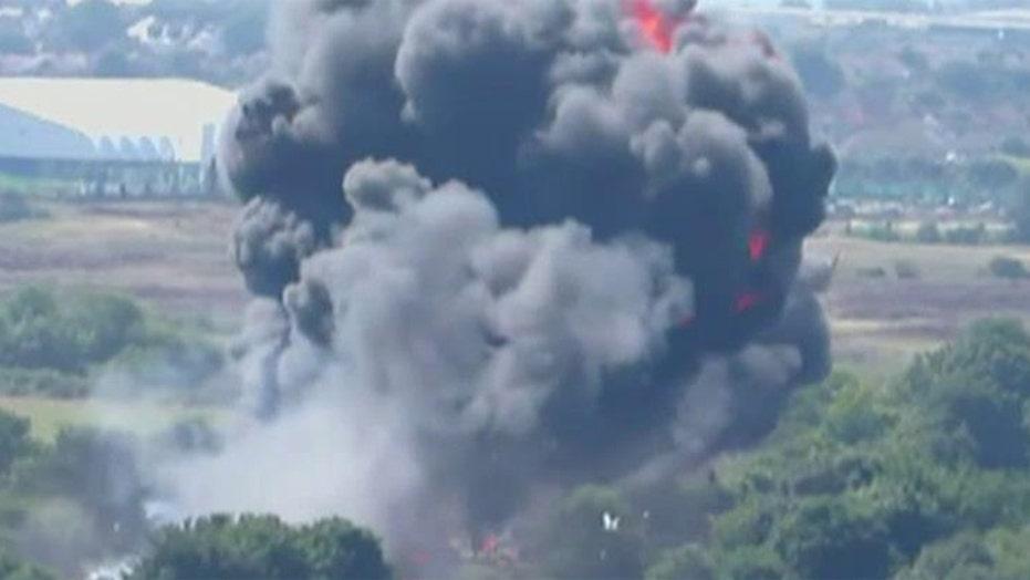 Death toll rising after jet crash at British air show