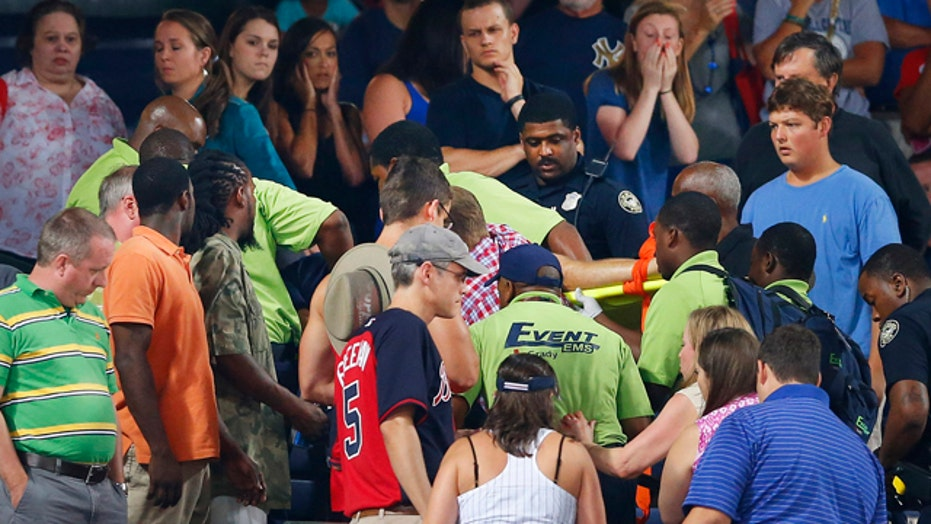 Fan dies after falling from upper deck during baseball game