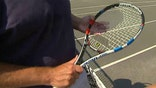 Racket tracks data on tennis shots and sends it to smartphone app