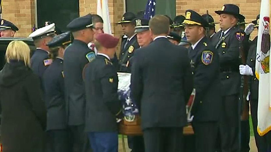 Mourners gather to say goodbye to slain Illinois officer
