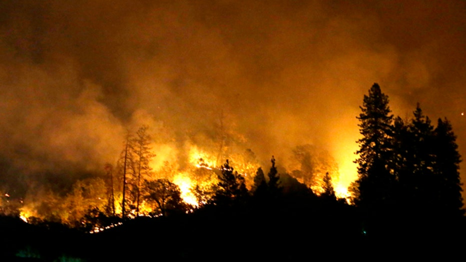 Wildfires rage through Northern California