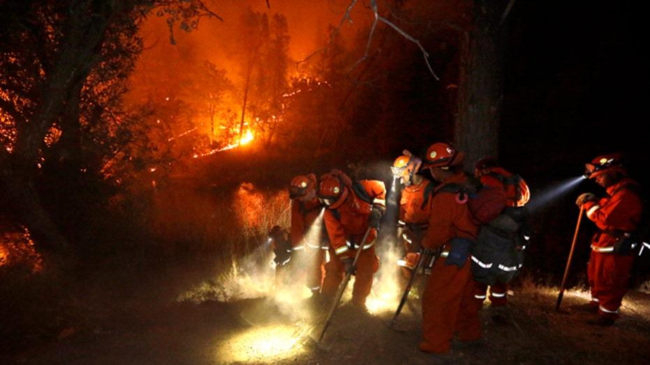 Firefighters battling massive blazes across California