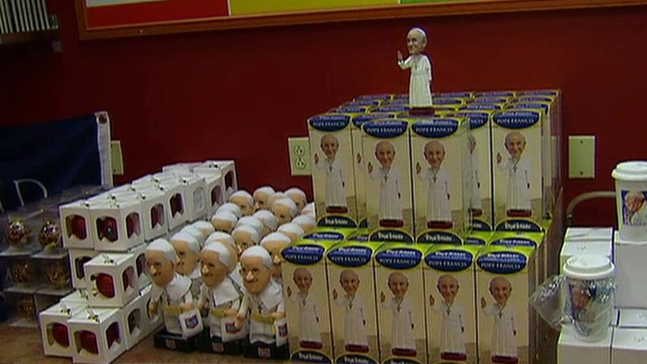 Entrepreneurs looking to cash in on Pope's historic US visit