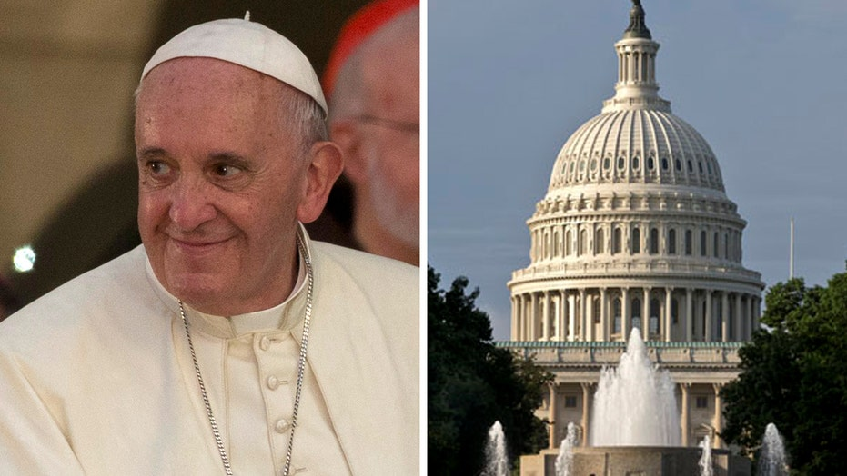 Congressional leaders set ground rules for Pope's speech