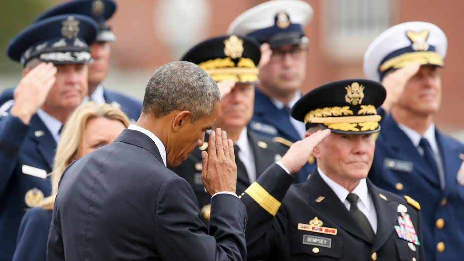 General Martin Dempsey receives emotional farewell ceremony