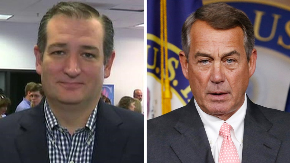 Ted Cruz: Criticisms of Boehner not personal