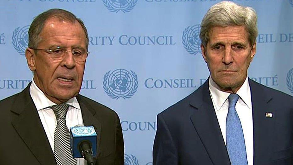 Kerry, Lavrov address media following 'constructive' meeting