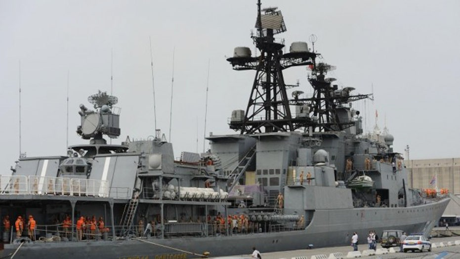Russia fires missiles into Syria from warship