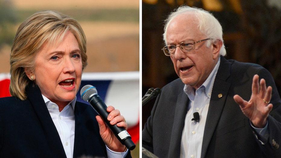Frontrunner Clinton prepares to debate surging Sanders