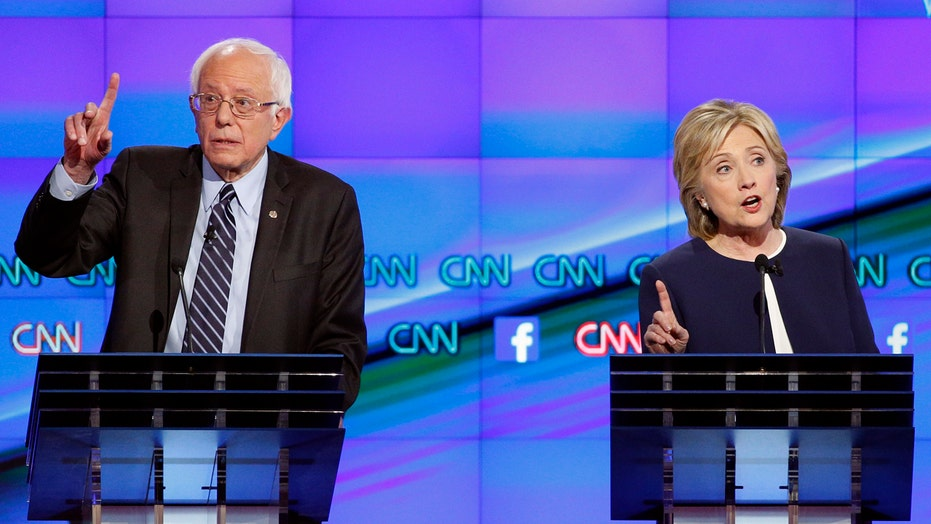 Which candidates dominated social media during #DemDebate?