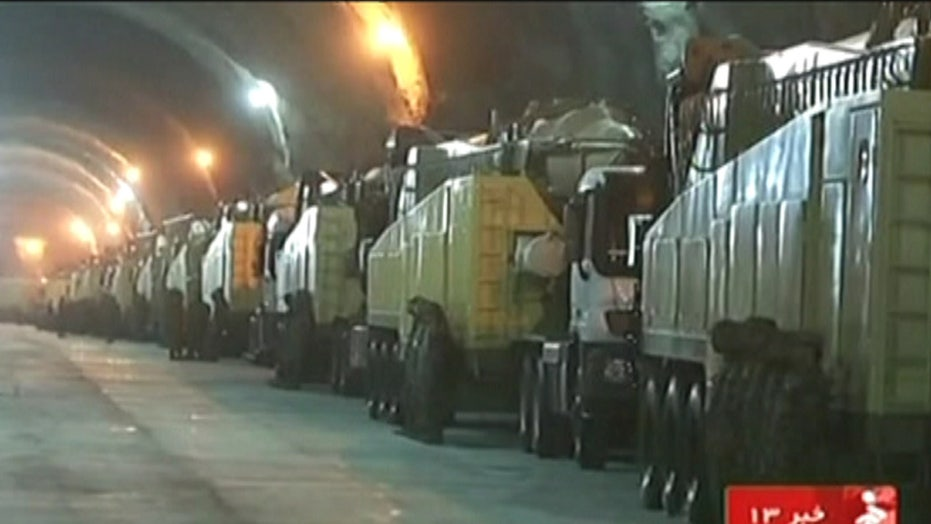 Iran broadcasts images of secret missile base