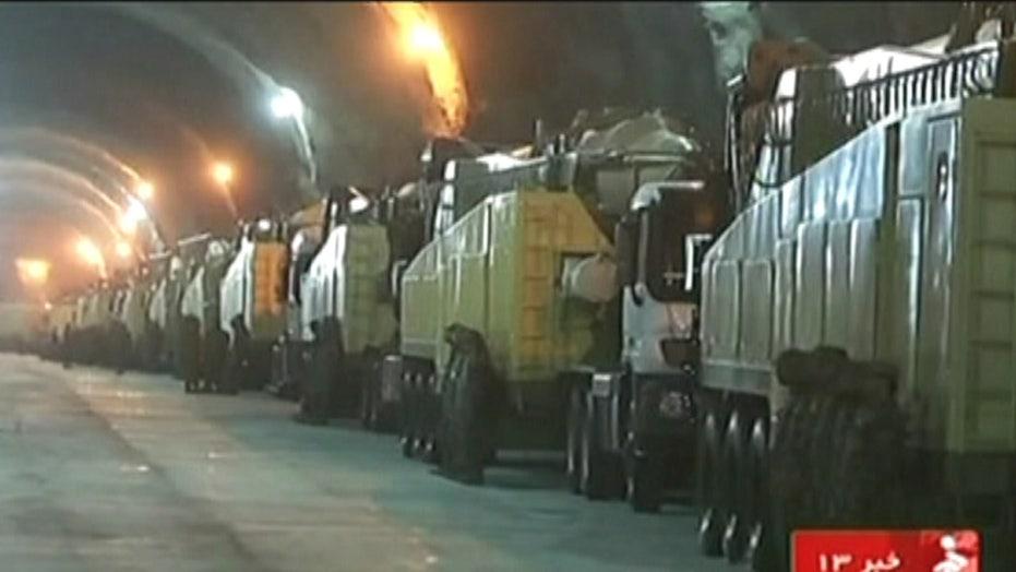 Iran broadcasts images of secret missile base