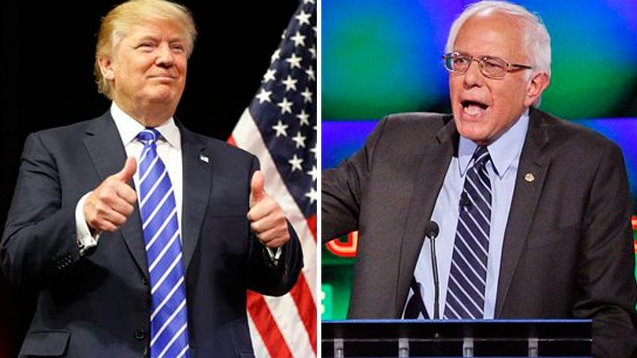 Dem candidates bash the rich as Trump touts his wealth