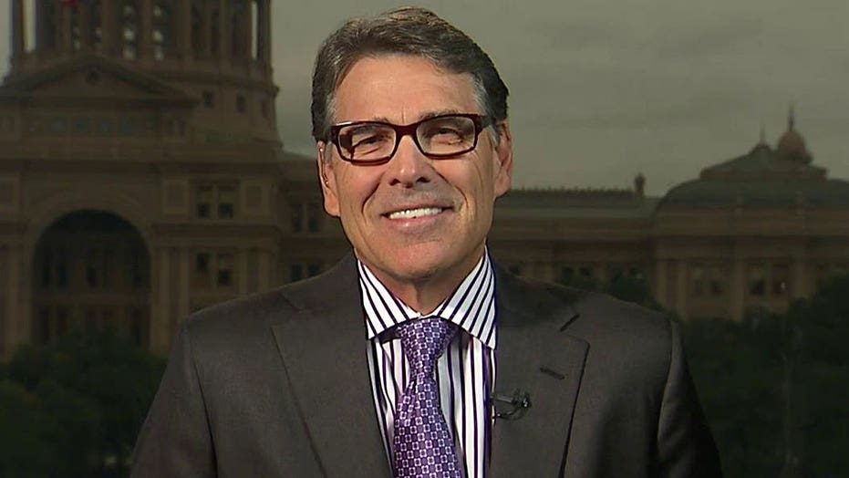 Rick Perry reacts to VP Biden's announcement not to run