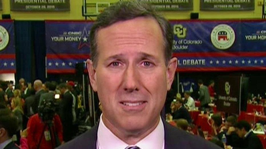 Santorum on his performance in the early debate