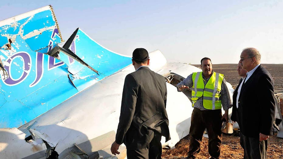 External impact likely caused Russian jet to crash in Egypt
