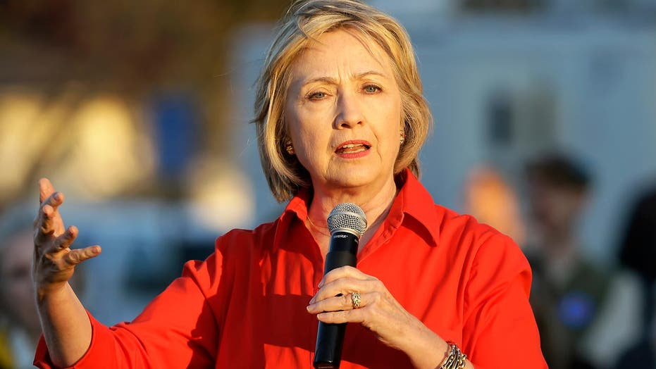 Hillary tries to position herself between voters and Sanders