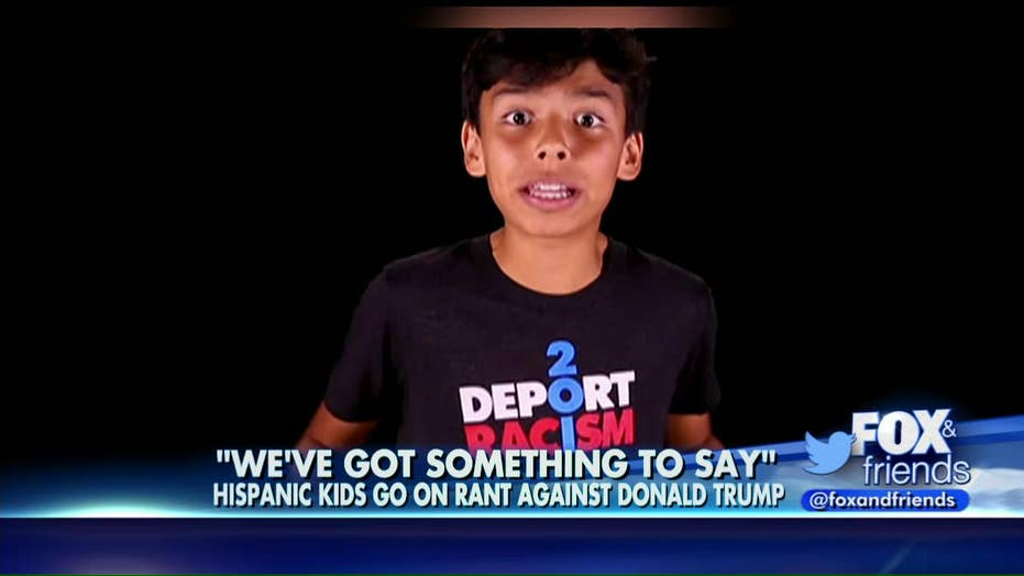 Kids rant against Donald Trump in new video