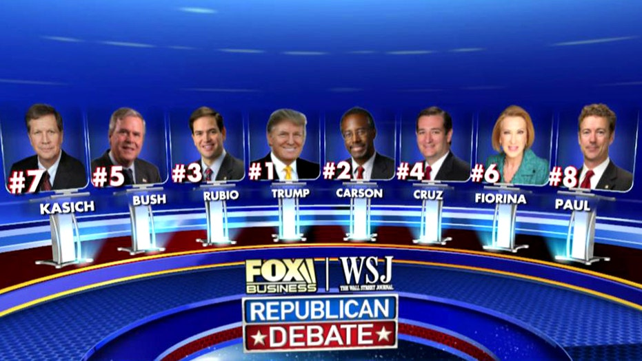 Fox Business Network's GOP debate lineup explained